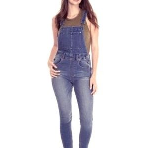 $117 W 20% OFF 2! FREE PEOPLE HIGH RISE OVERALLS